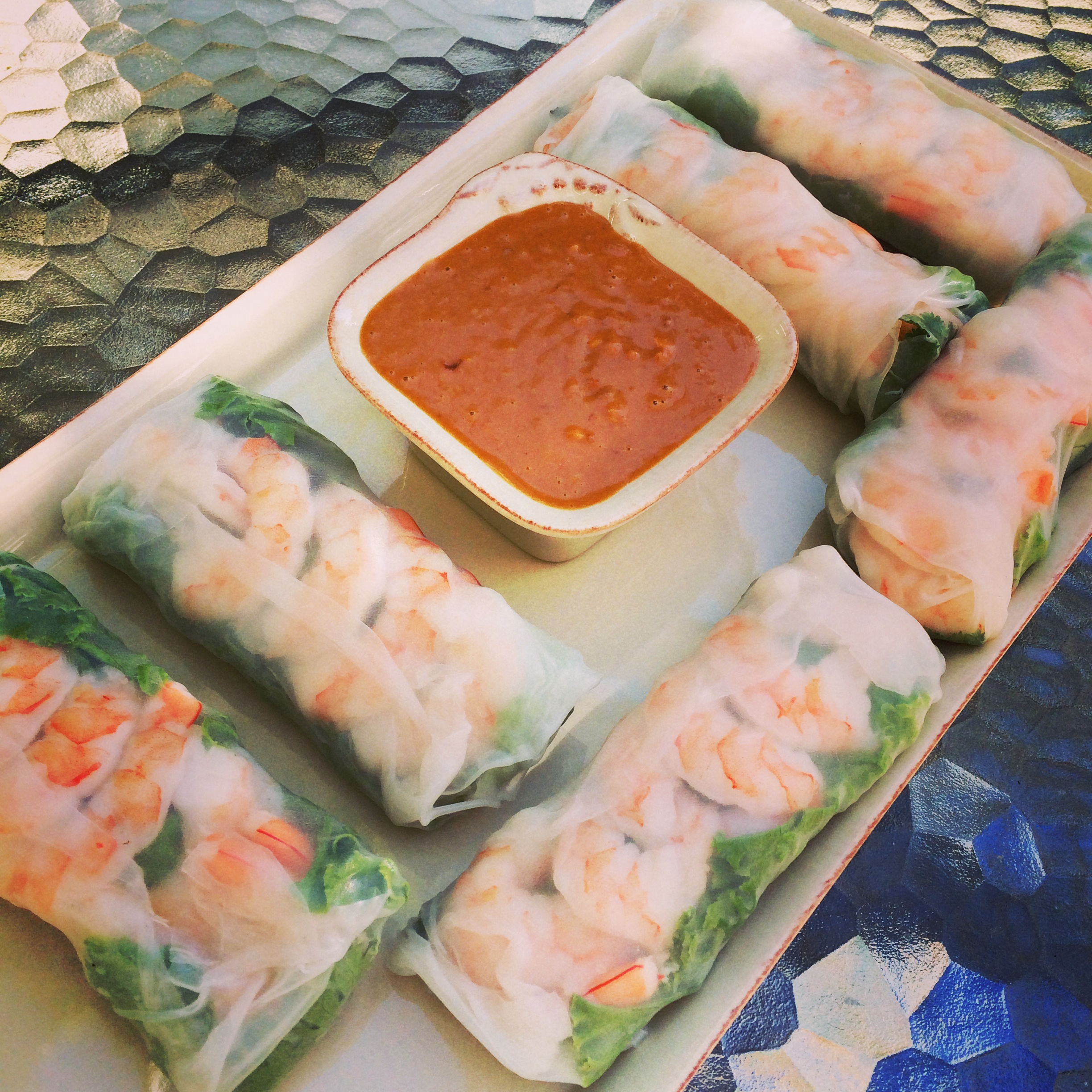 Vietnamese Spring Rolls With Peanut Sauce Finding The Weigh